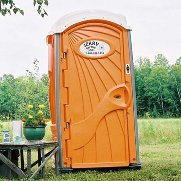 Regular Portable Toilet with hand sanitizer & 3 rolls of toilet paper (portable exactly as shown)